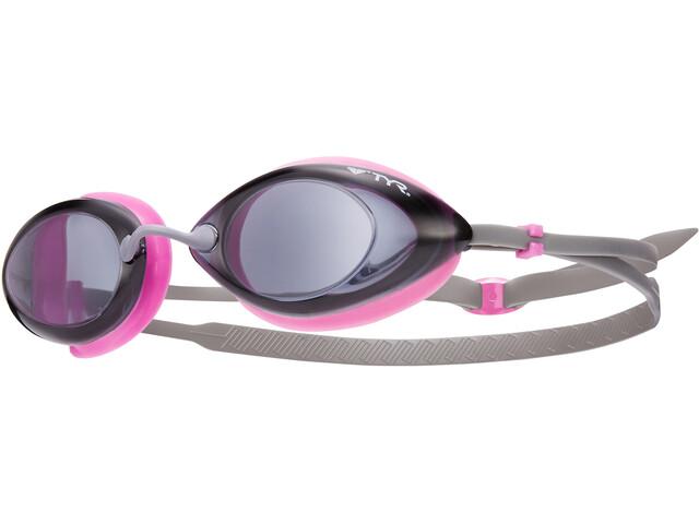 TYR Tracer Racing Okulary pływackie Kobiety, szary/różowy
